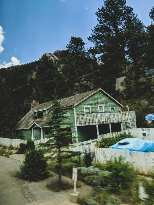 Free stock photo of house, mountain, road, vintage