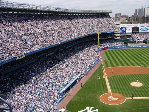 Základová fotografie zdarma na téma aktivita, baseball, dav, hra