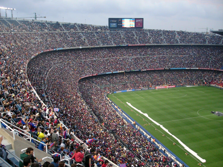 世界杯, 人群, 匹配,配对,适合, 團隊 的 免费素材照片