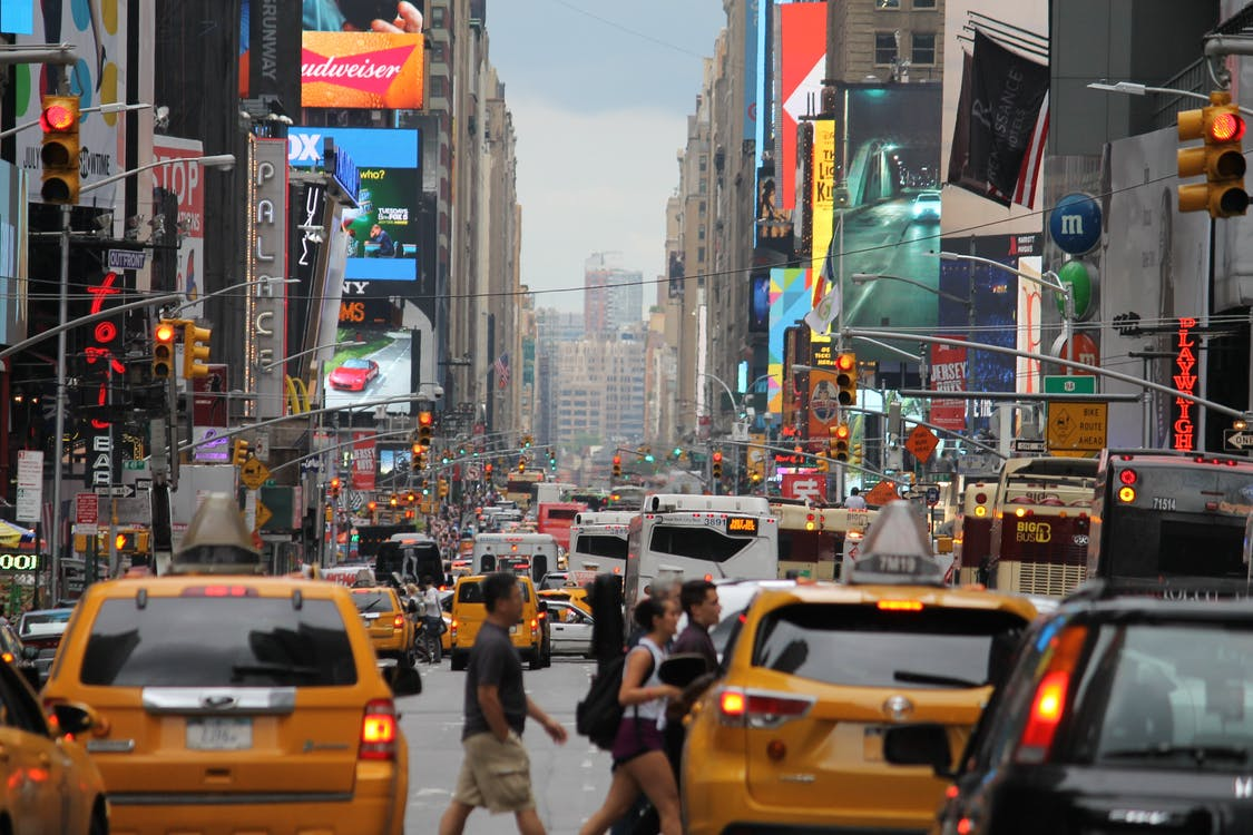 city, crowded, in new york city