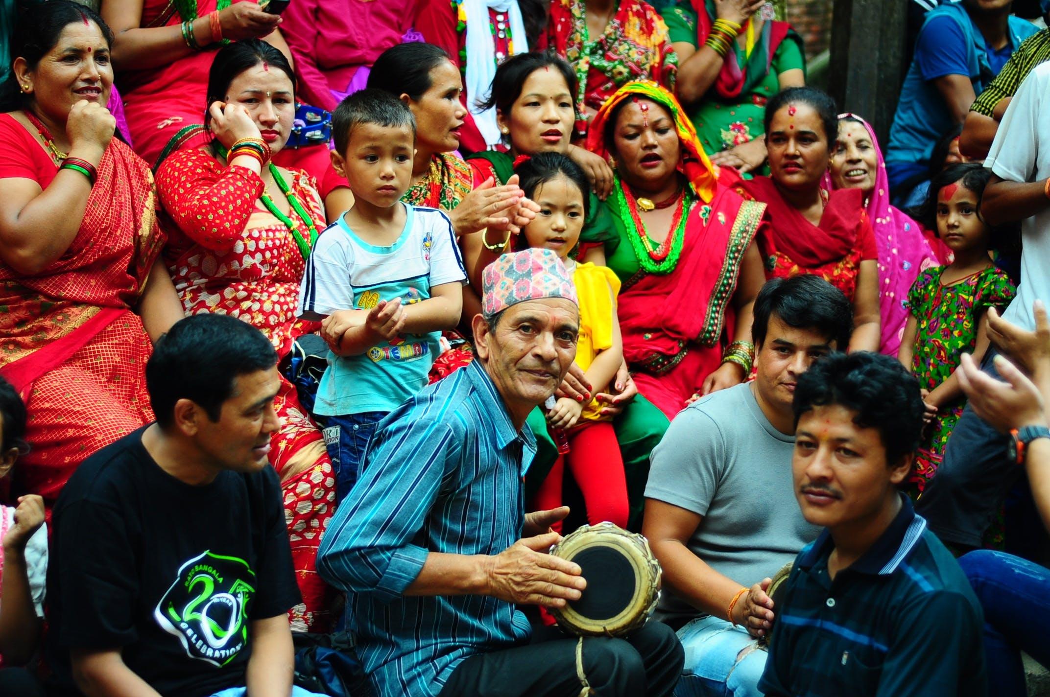 Free stock photo of festival, joy, nepal, people