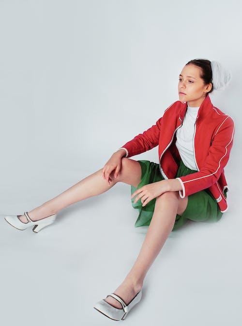 Základová fotografie zdarma na téma bílé pozadí, červená, elegantní, focení