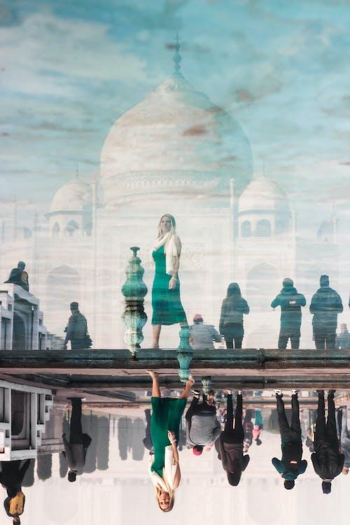 Gratis arkivbilde med arkitektur, india, refleksjon, rolig vann
