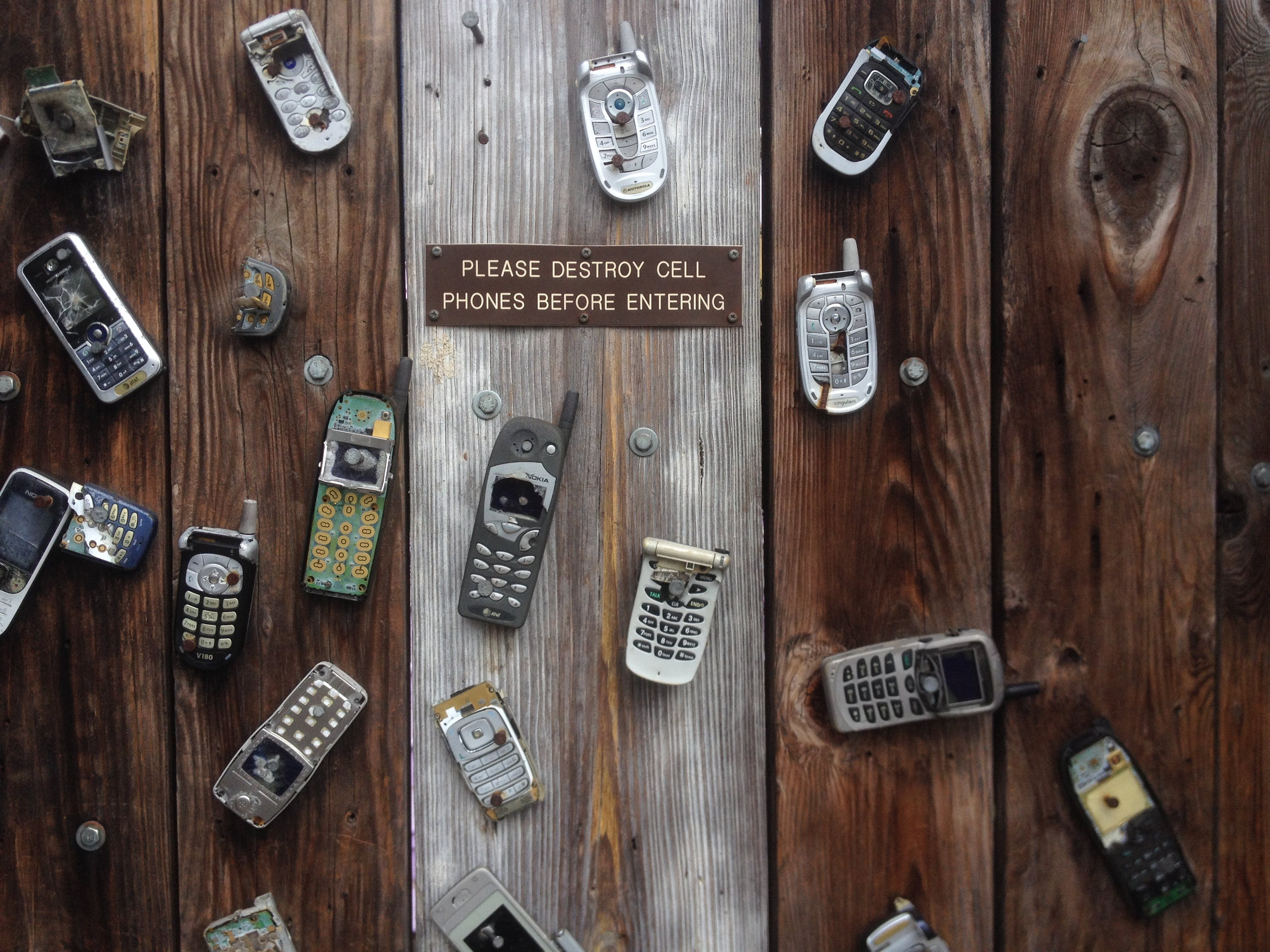 Assorted Phones on Plank