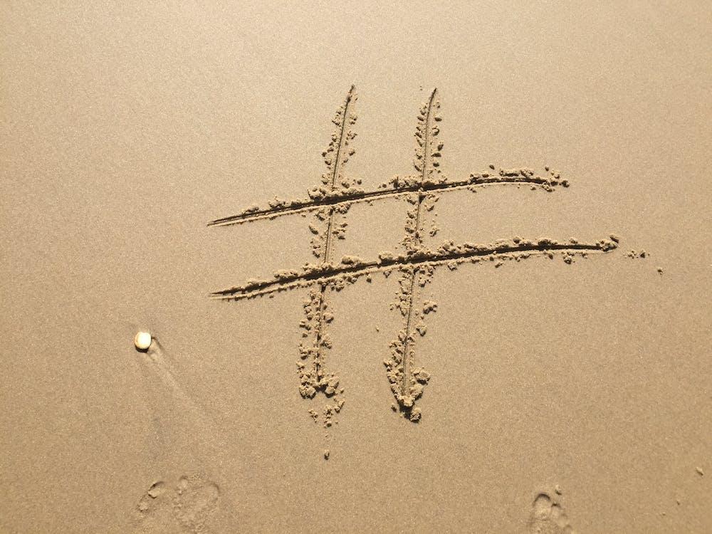 Number Sign Sand Artwork