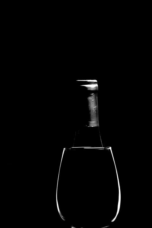 Free stock photo of black and white, glasses, wine, wine glass