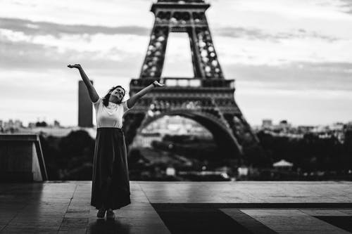 Free stock photo of black and white, eiffel, eiffel tower, france