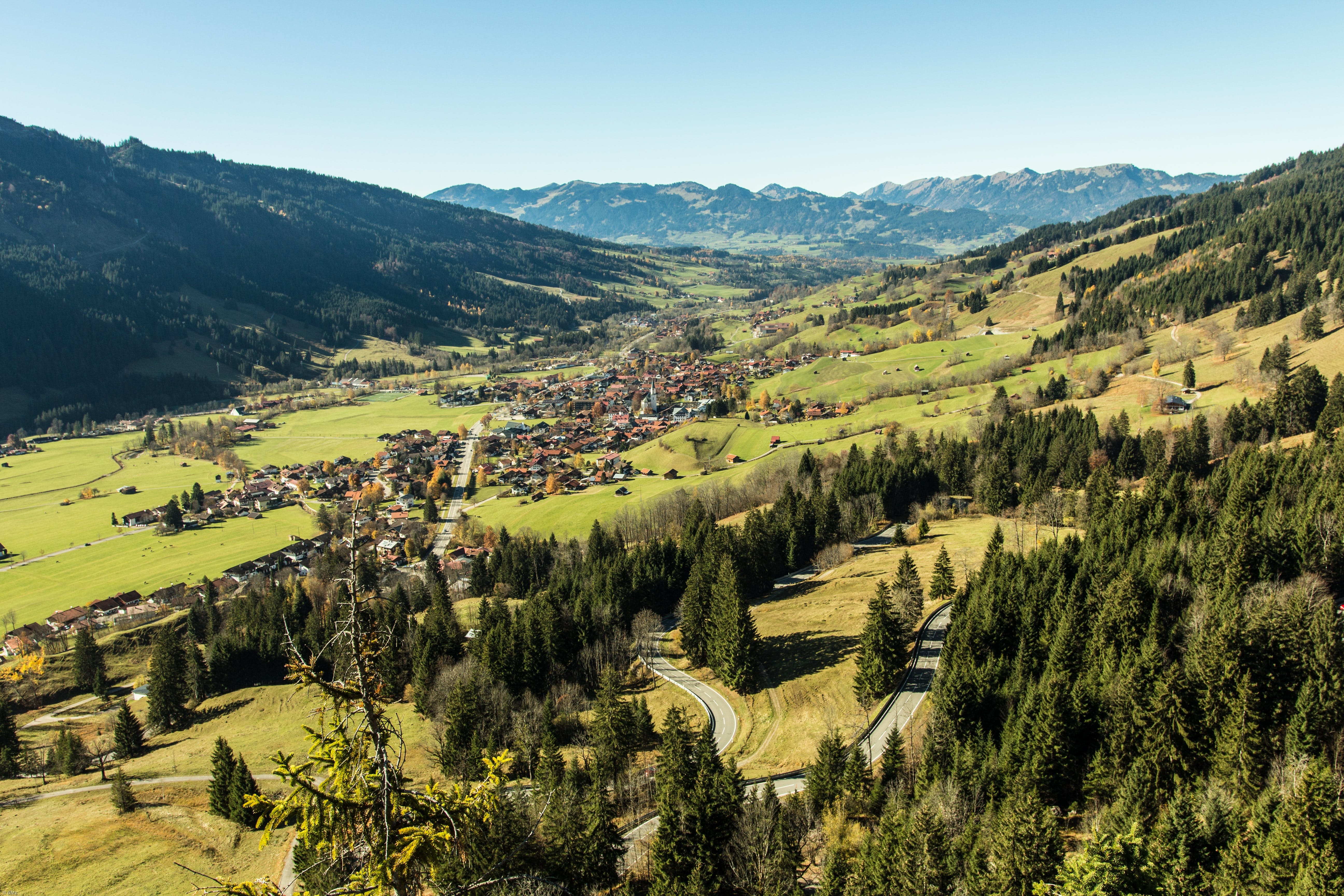 Free stock photo of mountains, village, place, resort