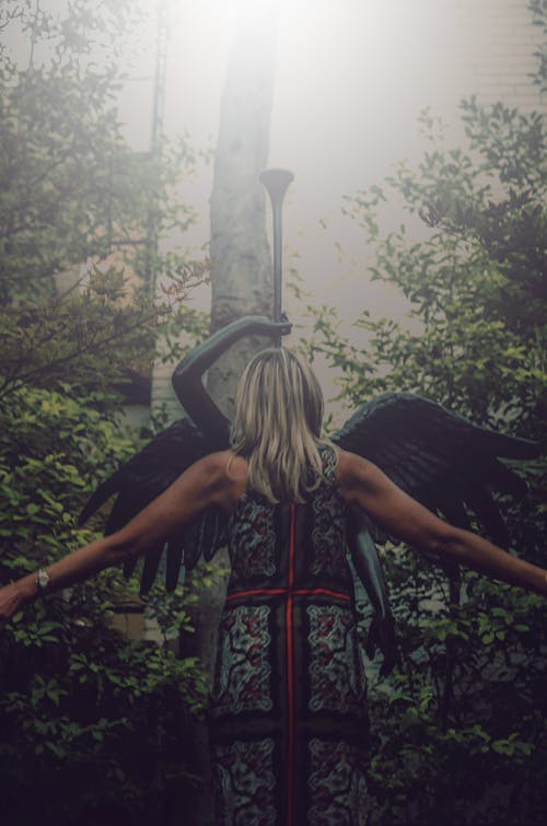 Free stock photo of angel, city park, outdoor photography