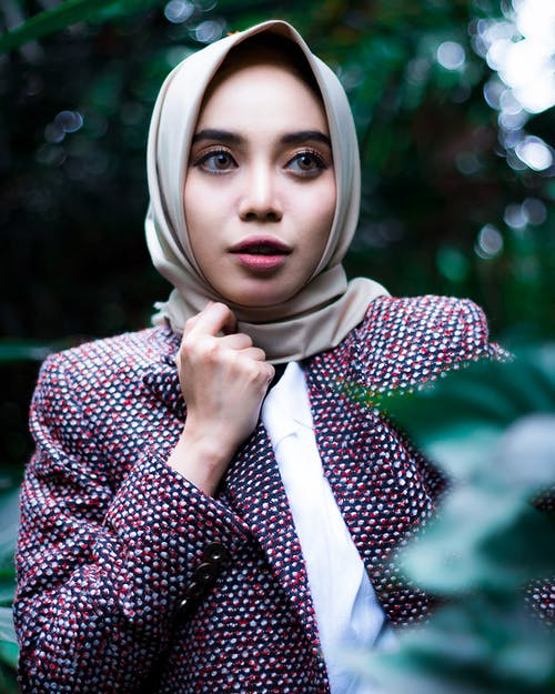 Women's Brown Hijab Veil