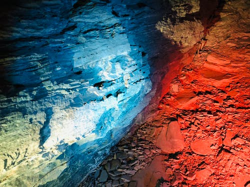 Free stock photo of beatiful, blue and red, natue, rock