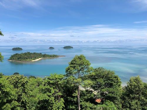 ada, bulut, deniz kenarı, güzel içeren Ücretsiz stok fotoğraf