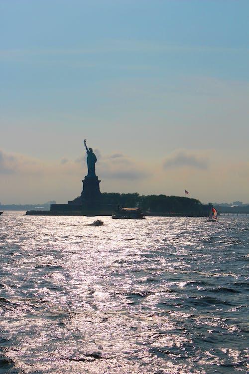 Free stock photo of america, at sea, famous landmark, freedom
