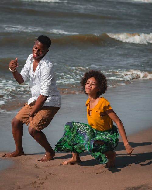 Free stock photo of african american people, beach, black couple