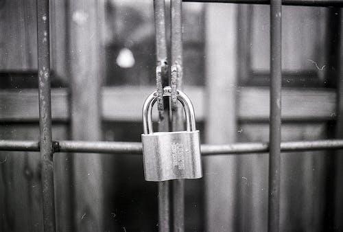 Imagine de stoc gratuită din acces, alb-negru, blocat, cheie