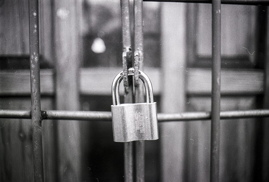 access, black-and-white, blur