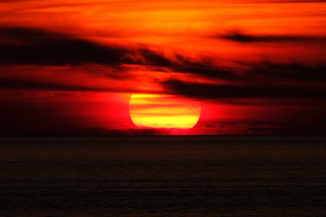 вид, восход, горизонт