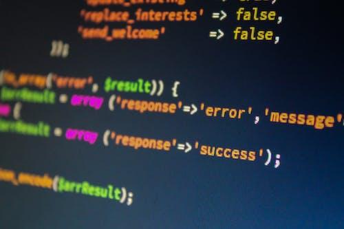 Monitor Displaying Error Text