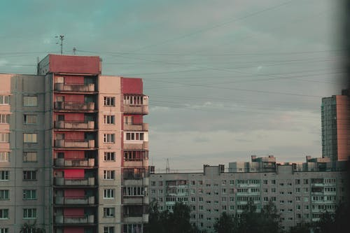 Free stock photo of atmosphere, city sky, film, panel house