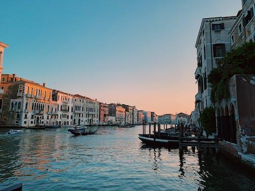 Бесплатное стоковое фото с венеция, гранд-канал, закат, италия