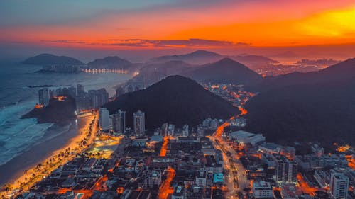 全景, 城市, 天空, 山 的 免費圖庫相片