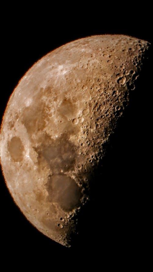 Free stock photo of eclipse, half moon, moon