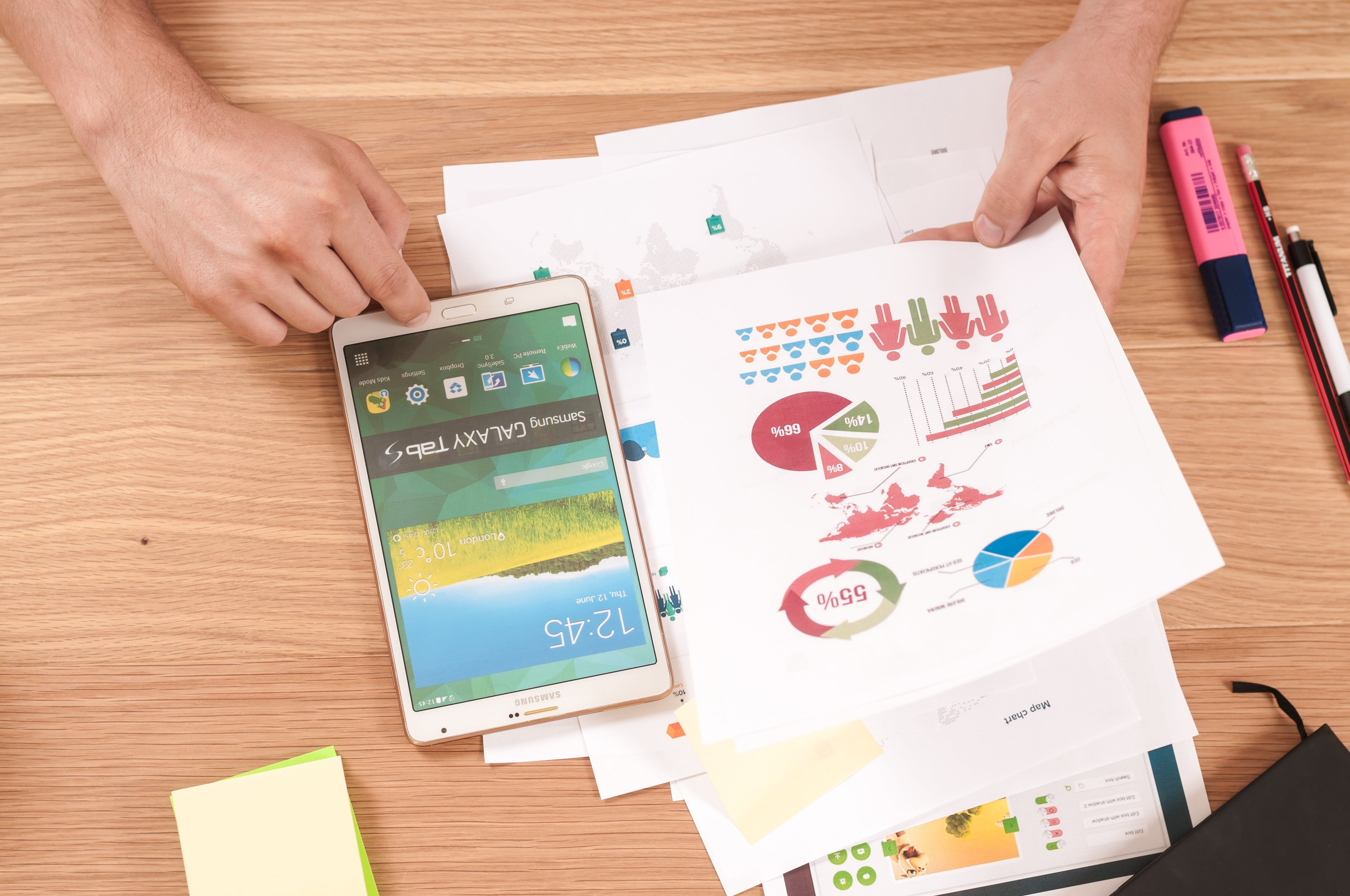 Free stock photo of android, business, chart, charts
