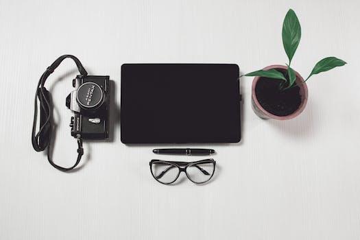 Free stock photo of camera, desk, office, pen