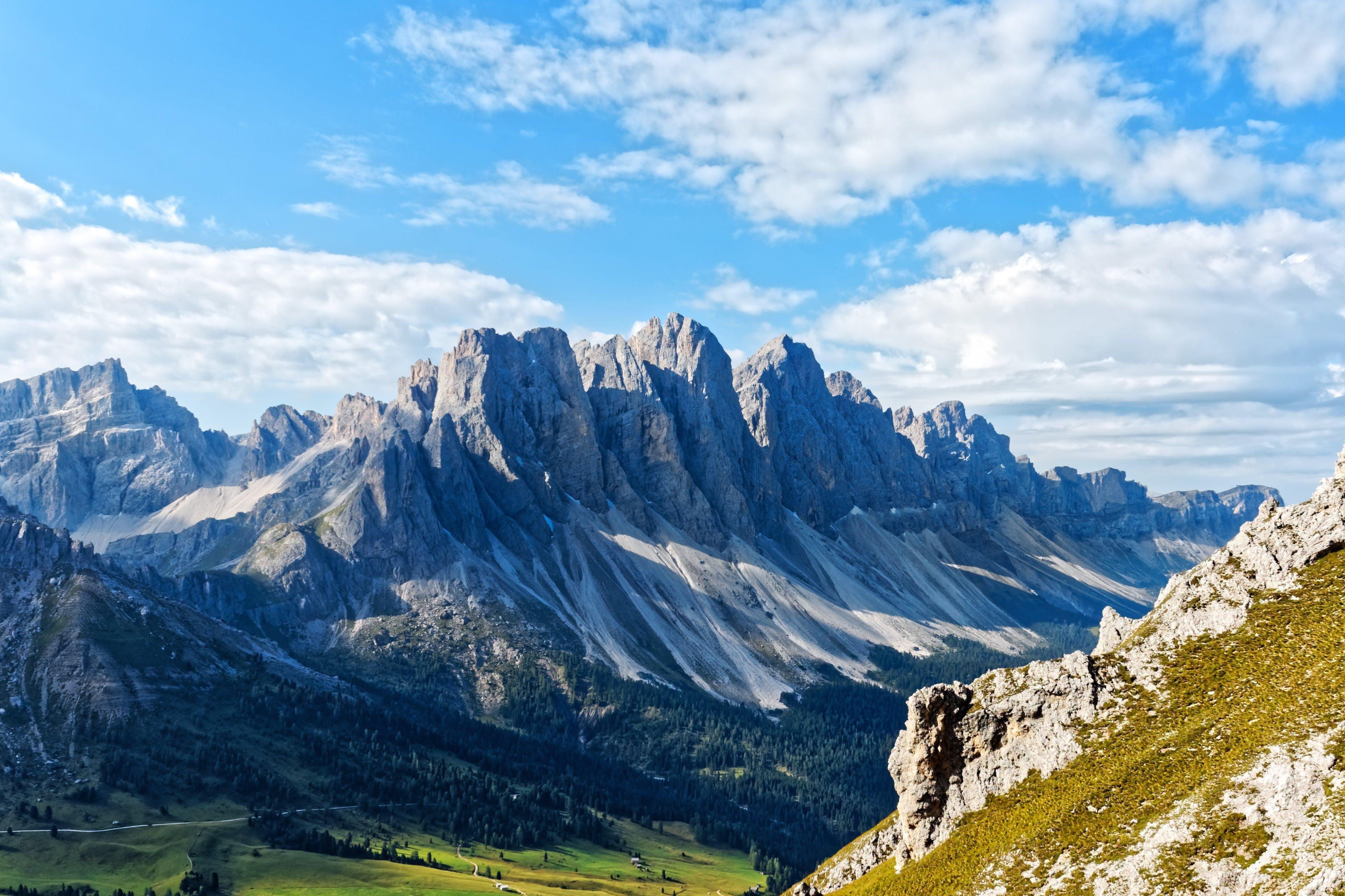 berg, berge, felsiger berg