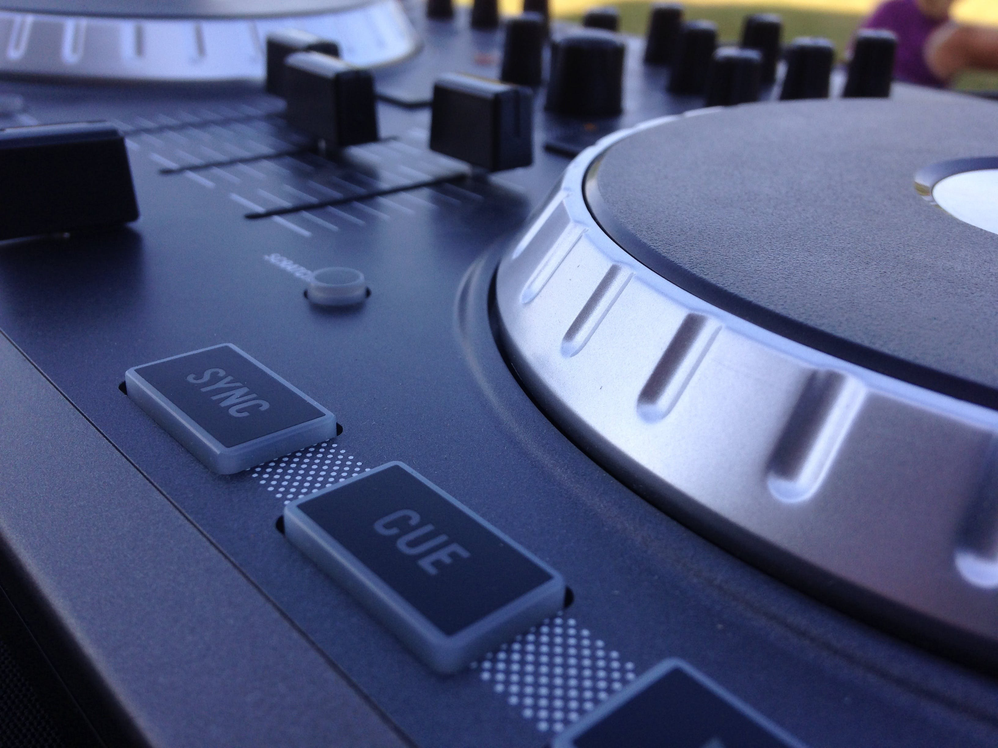 Closeup Photography of Dj Mixer