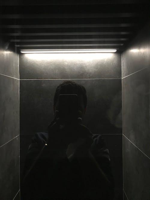 Ingyenes stockfotó éjszaka, ezüst, fekete, háttérvilágítás témában
