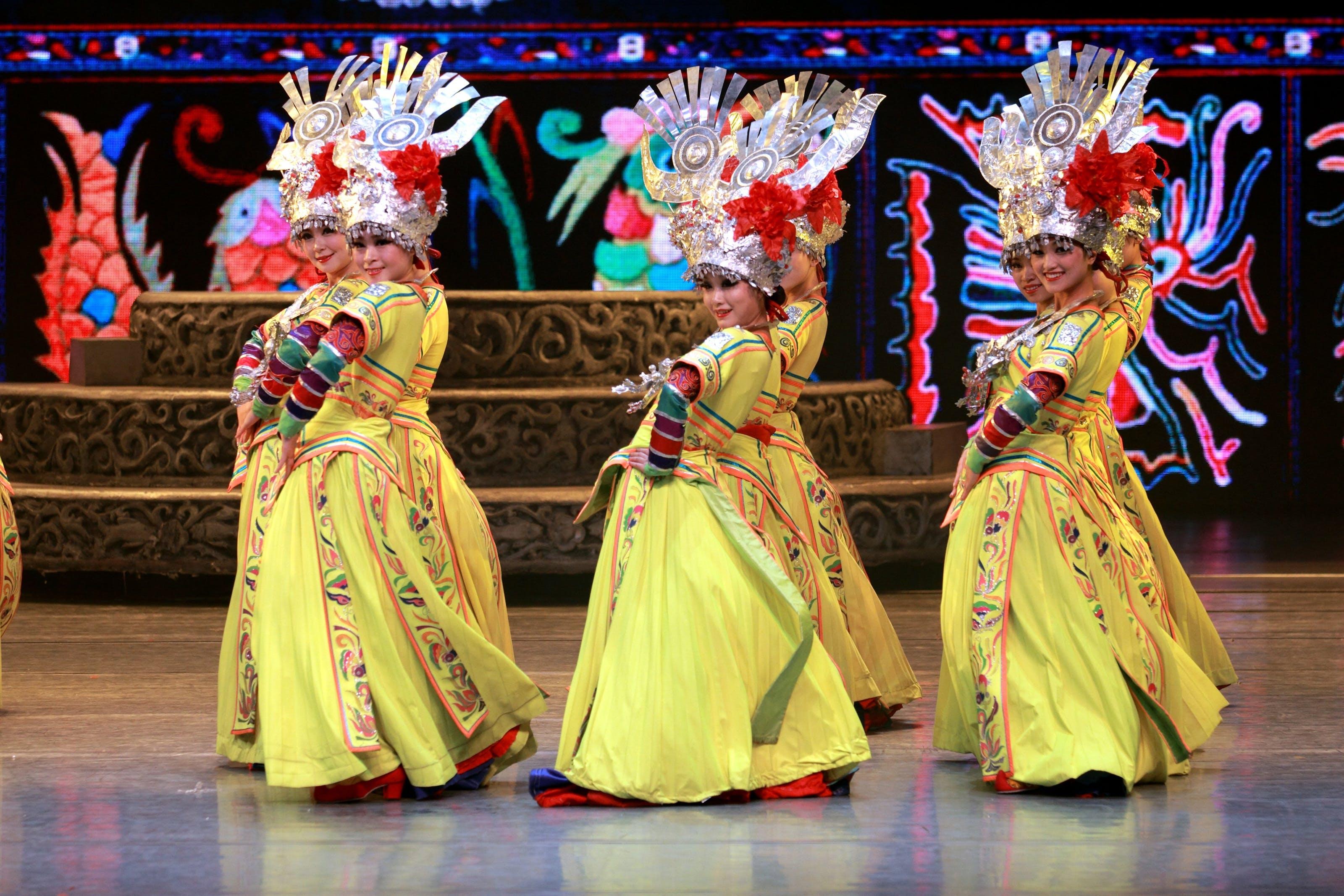Free stock photo of traditional, china, dance, minority