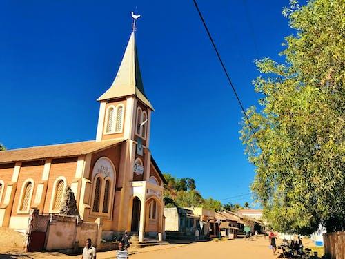 Free stock photo of beatiful landscape, blue sky, church