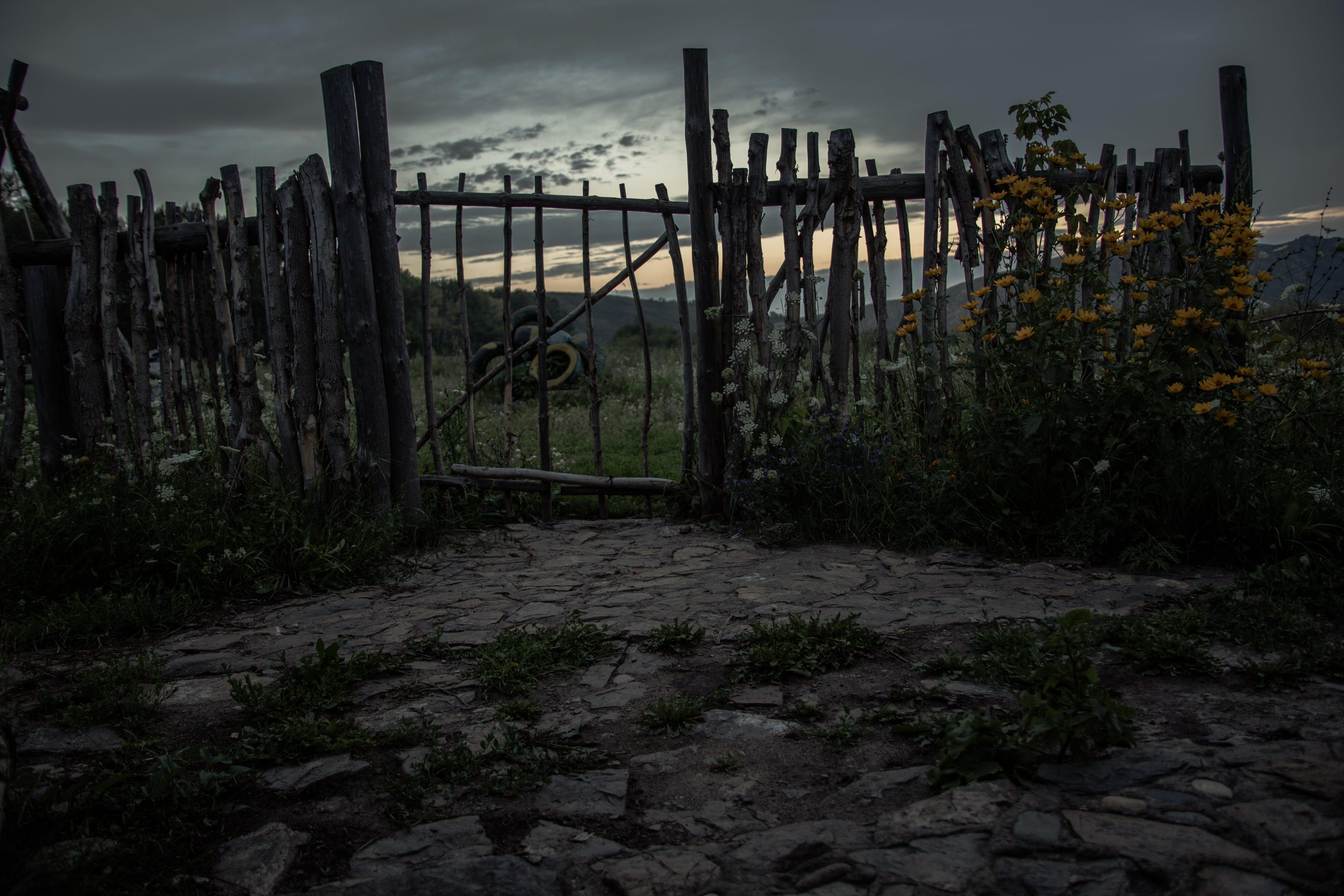 Black Wooden Gate