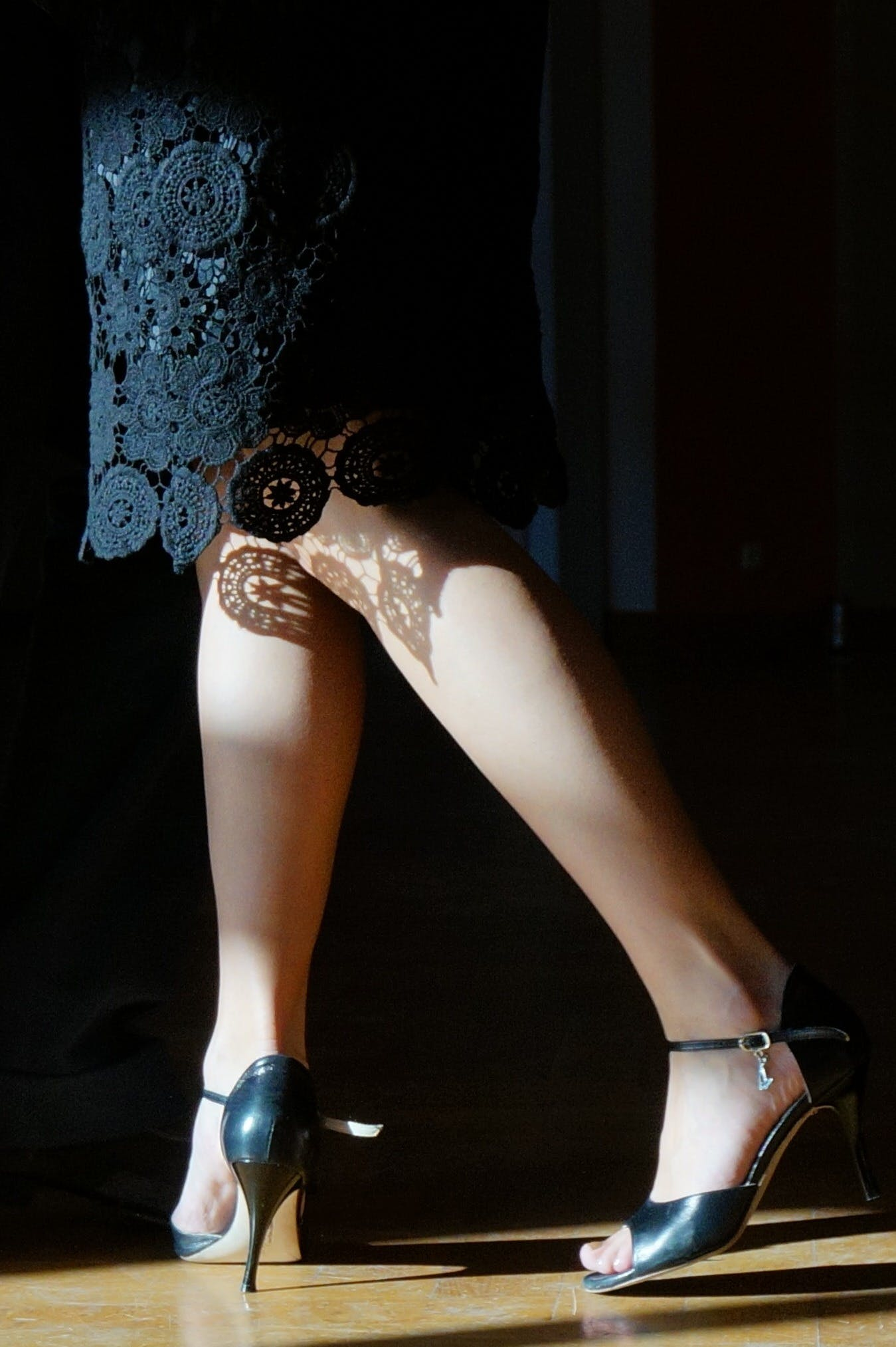 Pair of Women's Black Stilettos