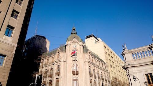 Ingyenes stockfotó alacsony szögű felvétel, barokk, chile zászló, drámai ég témában