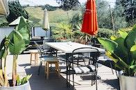garden, table, terrace