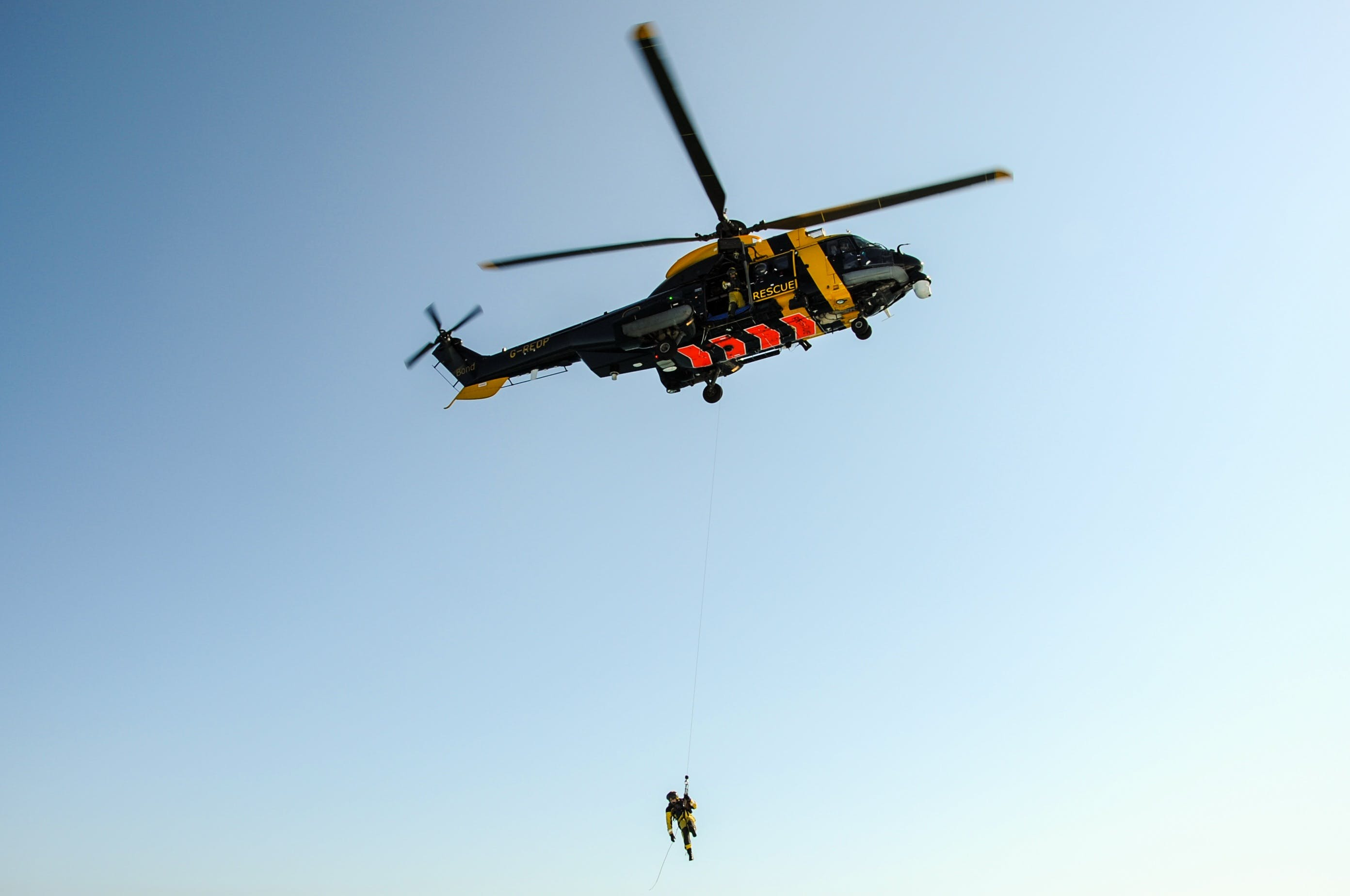 Free stock photo of help, first, rescue helicopter