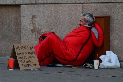 Free stock photo of sign, orange, homeless, help