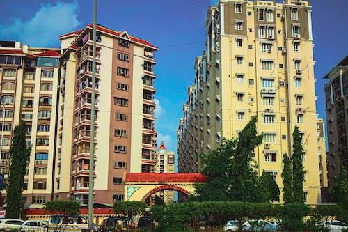 4k 바탕화면, 도시의 불빛, 아파트 건물의 무료 스톡 사진