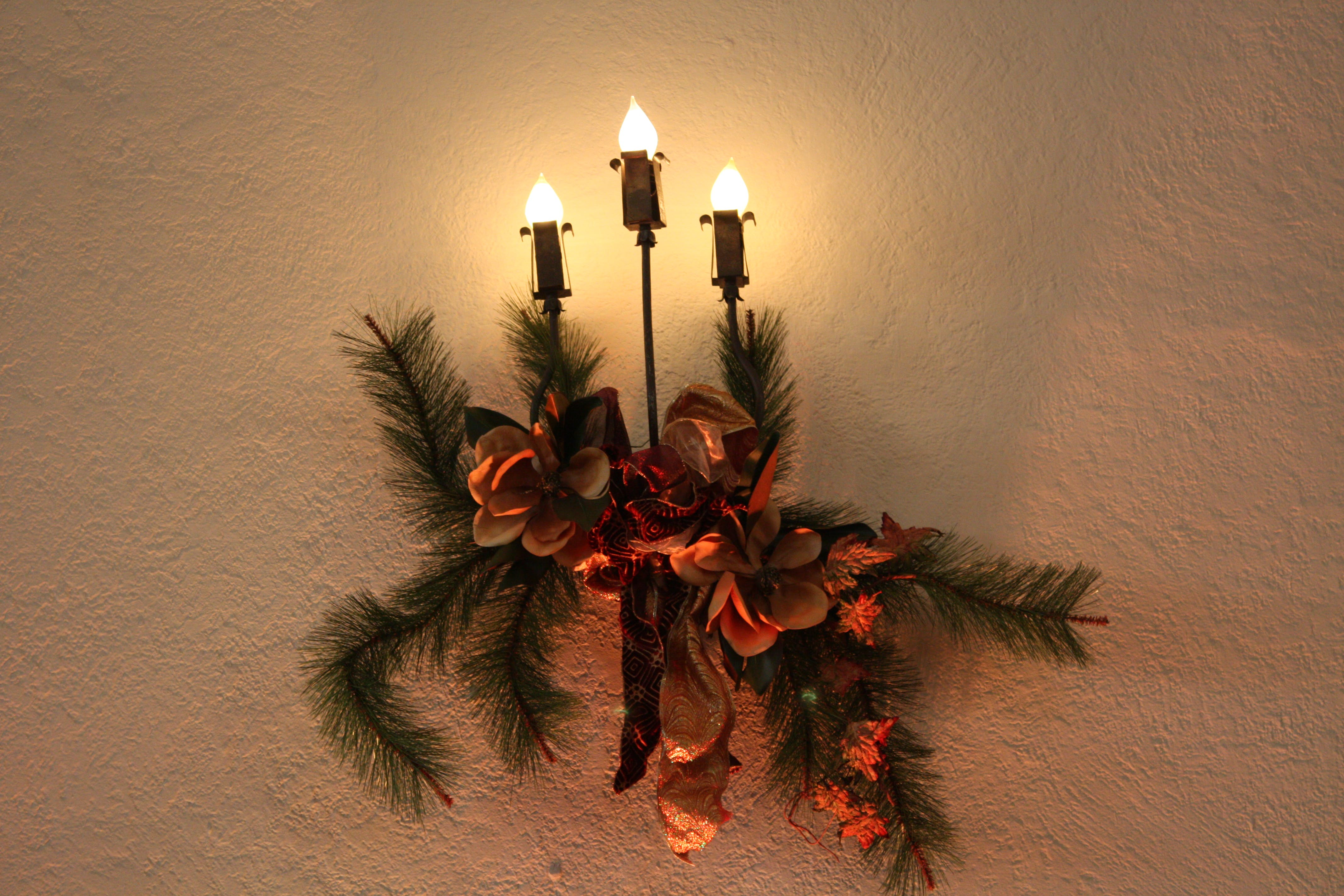 Free stock photo of candle, decoration, wall candle
