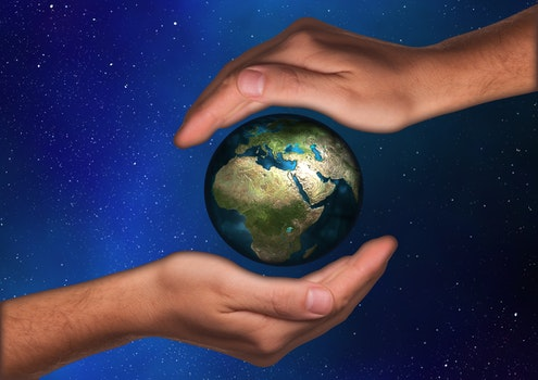 Free stock photo of hand, earth, respect, world