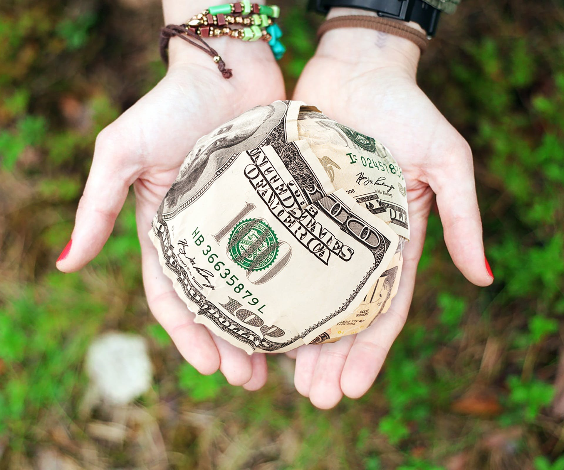 Free stock photo of hands, money, cash, dollars