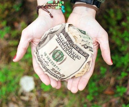 Free stock photo of hands, money, cash, dollars