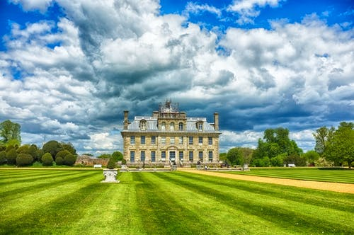 Free stock photo of blue sky, Country Home, manor house