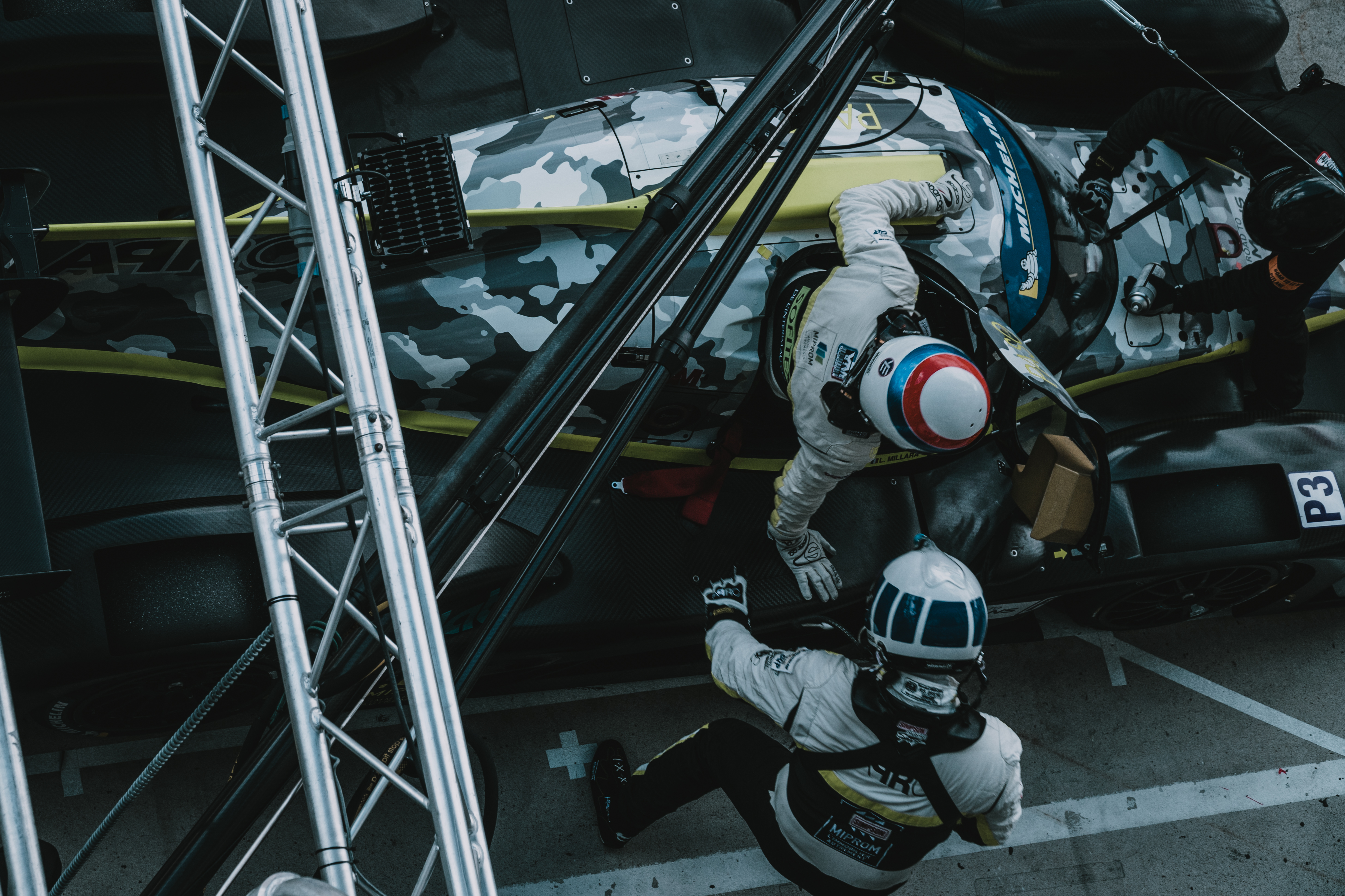 Racing Driver On A Pit Stop
