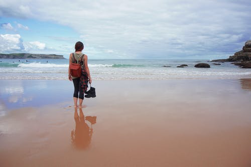 Free stock photo of adventure, backpacker, boots, cliff