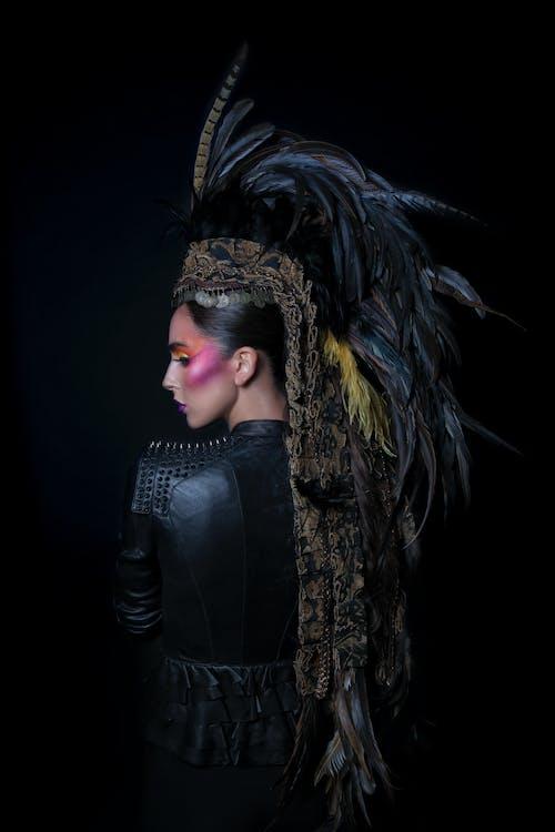 Photos gratuites de arrière-plan noir, art, blouson noir en cuir, coiffure
