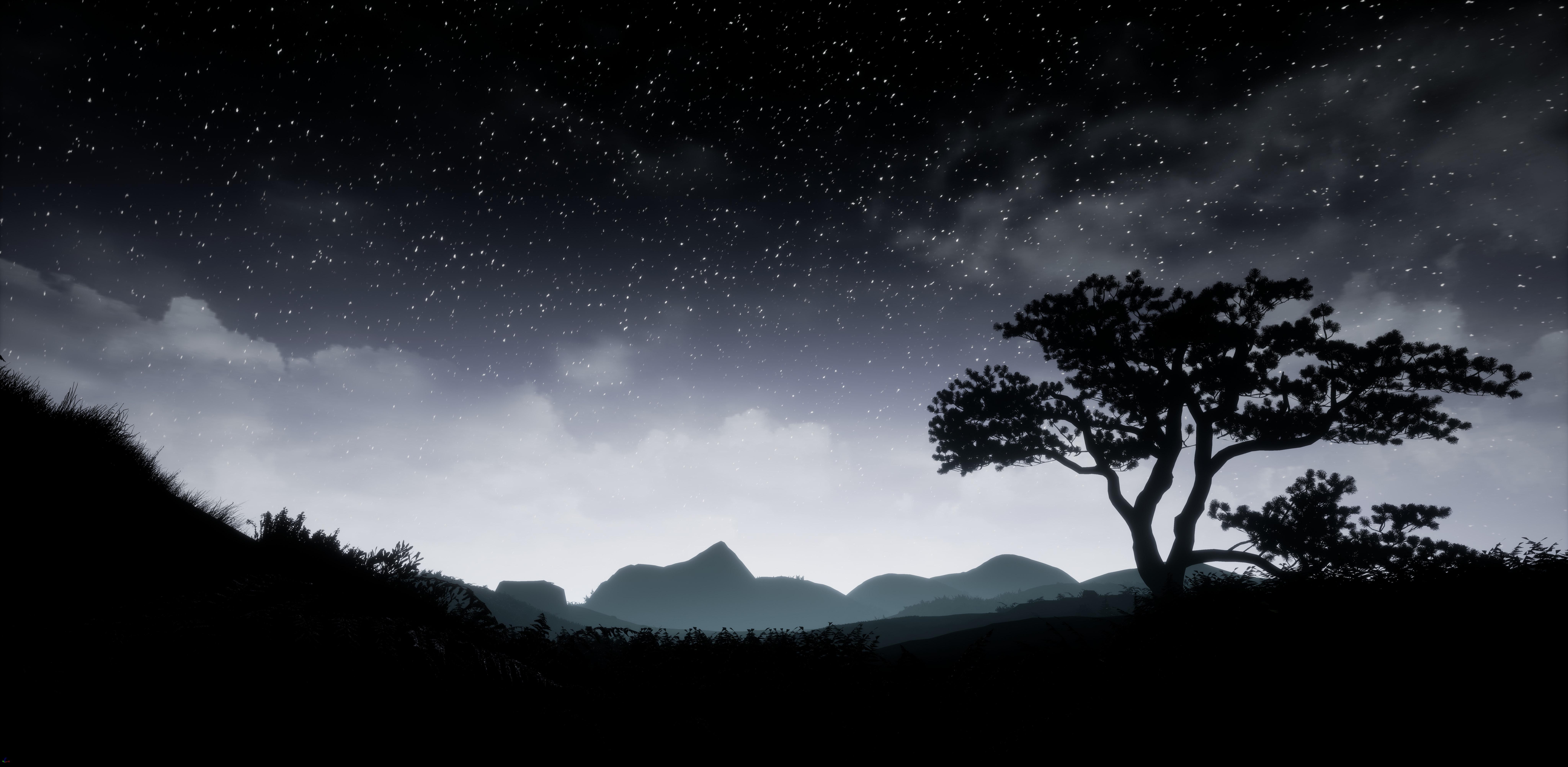 Foto Stok Gratis Tentang Bayangan Hitam Bintang Di Malam