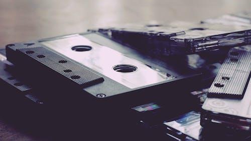 Photos gratuites de cassettes, cassettes audio, enregistrer, gros plan
